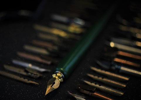 Filler, Feather, Write, Letters, Old, Ink