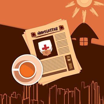 Newspaper Article, Headline, Medical Concept Poster
