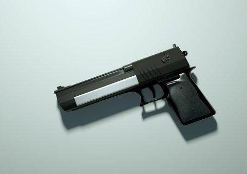 Handgun, Pistol, Gun, Weapon, Firearm, Revolver
