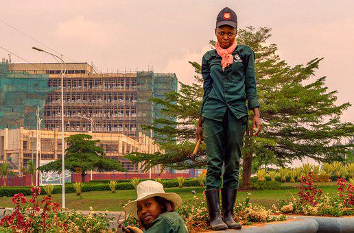 Kigali, Rwanda, Africa, Women, Africans, Gardeners