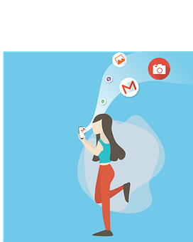 Girl, Social Media, Email, Internet, Social