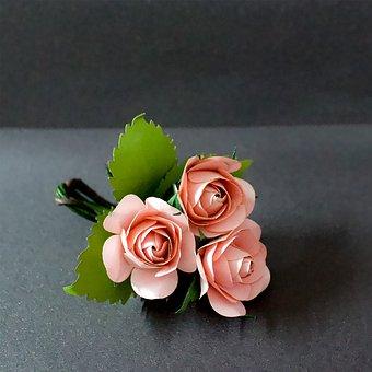 Rose, Paper, Craft, Love, Vintage, Wedding, Romantic