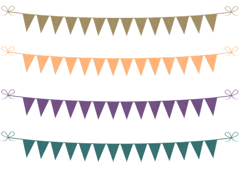 Bunting, Banner, Glitter, Cardstock, Green And Blue