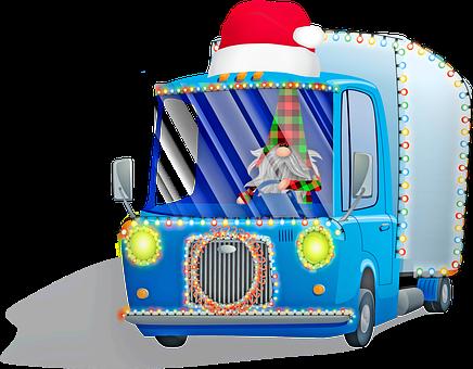 Christmas Car, Christmas Truck, Gnome, Imp, Bart