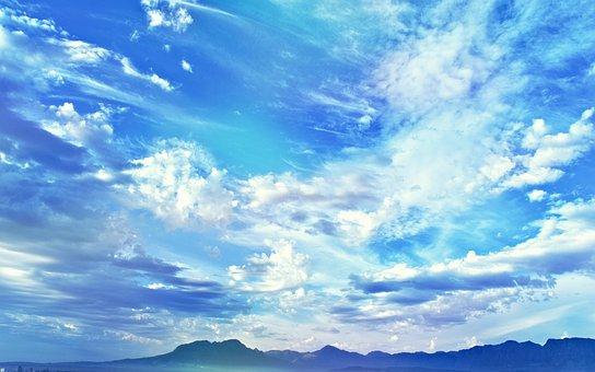 Sky, Clouds, Blue, Cape Town, Cumulus, Ocean, Sea