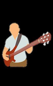 Bass, Club, Elderly, Electric, Guitar, Man, Music