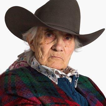 Woman, Portrait, Elderly, Face, Look, Intense, Hard