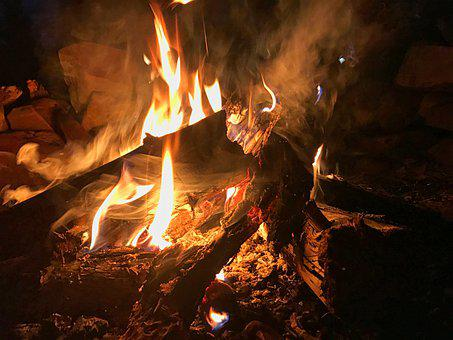 Camp, Fire, Camping, Campfire, Bonfire, Flame, Outdoor