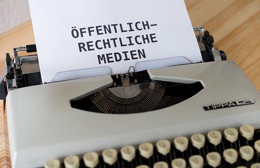 Mockup, Typewriter, German, Media, Press, Public Law