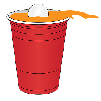 Beer, Pong, Red, Solo, Cup, Plastic, Game, Fun, Party