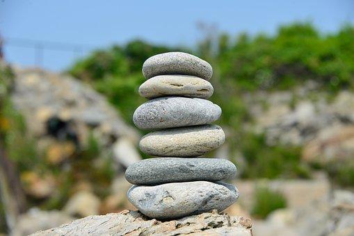 Rocks, Balance, Nature, Life, Outdoor, River, Mind