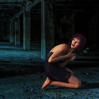 Woman, Fear, Schreck, Emotion, Scared