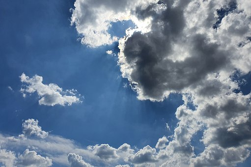 Clouds, Sky, Mood, Sun, Background, Nature, Blue