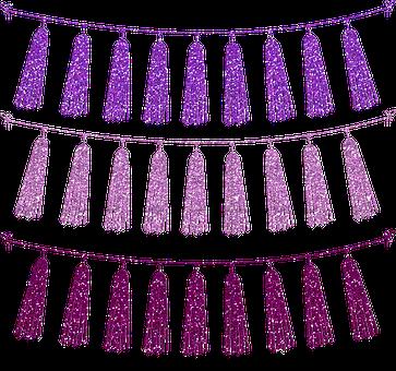 Tassels, Tassel Bunting, Banner, Glitter, Cardstock