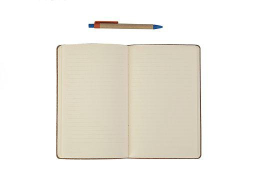 Notebook, Note, Is Empty, Background, White, The Work