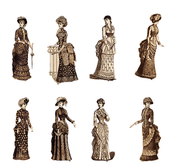 Vintage, Ladies, Victorian, Fashion