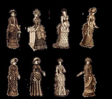Vintage, Ladies, Victorian, Fashion, Model, Women