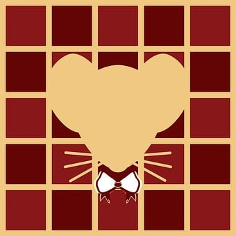 Rat Face Silhouette, Vintage Theme, Chinese Red