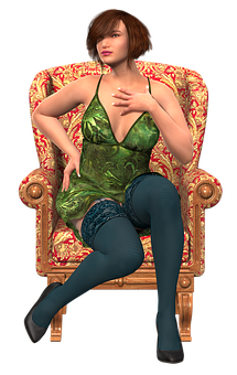 Woman, Sitting, Beauty, Clothing, Erotic, Female