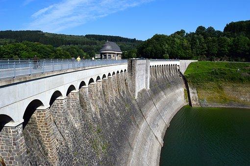Dam, Reservoir, Building, Water, Architecture