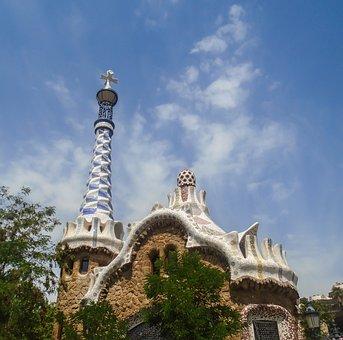 Barcelona, Gaudi, Architecture, Building, Famous, Park