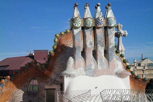 Barcelona, Gaudí, Architecture, Tourist