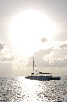 Catamaran, Sailing Boat, Beach, Seaside, Seashore