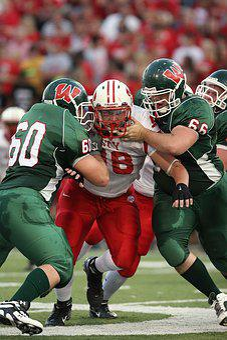 American Football, Action, Blocking, Defensive Tackle