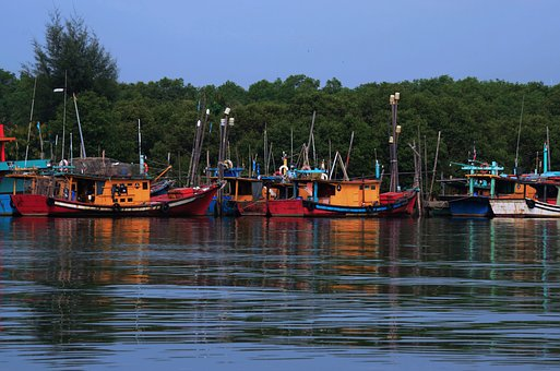 Fishermen, Boat, Sea, Fisherman, Fishing, Beach, Blue