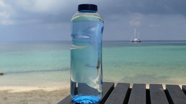 Bottle, Blue, Sea, Boot, Sailing Boat, Drink, Water