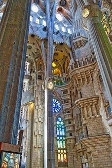 Familia Segrada, Cathedral, Basilica, Ceiling