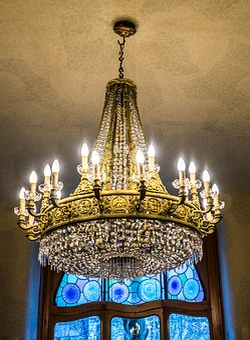 Gaudi House, Chandelier, Barcelona, Spain, Ceiling