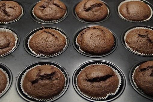 Muffins, Schokomuffins, Mountain, Calories, Delicious