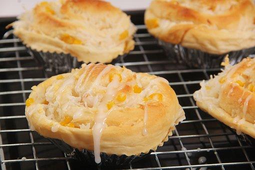 Bakery, Bread, Corn, Coconut, Food, Eat, Delicious
