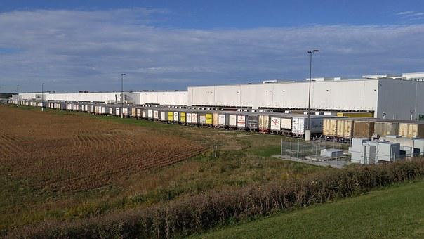 Depot, Food, Trucks, Distribution, Field, Warehouse