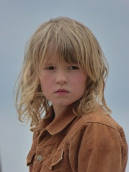 Child, Girl, Wild, Blond, Freedom, View, Face, Head