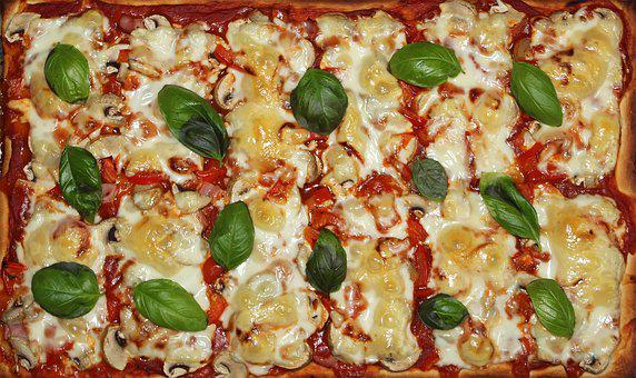 Pizza, Eat, Italian, Food, Basil, Pizza Topping