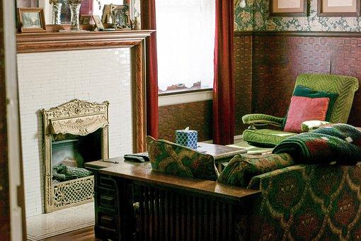 Fireplace, Living Room, Living Room Interior