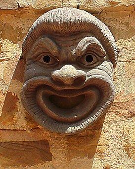 Mask, Maszkaron, Tunisia, Architecture, Ornaments