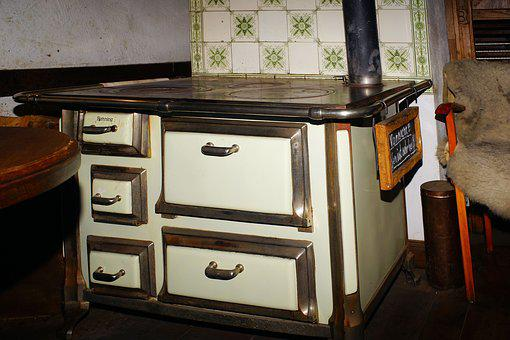 Stove, Fireplace, Old, Ostfriesisch, Heat, Oven