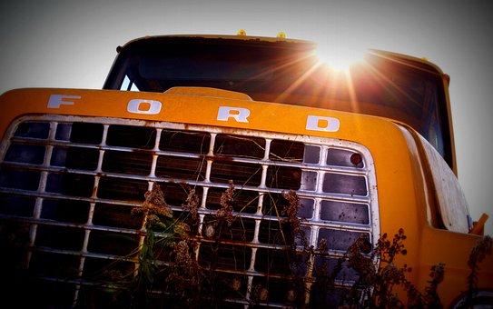 Salvage Yard, Car, Wreck, Vintage, Old, Broken, Red