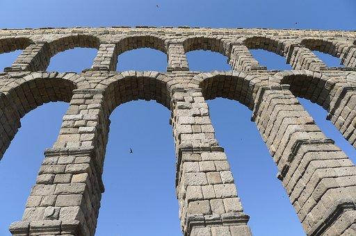 Segovia, Spain, Aqueduct, Ancient, Architecture