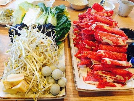 Food, Shabu-shabu, Cooking, Vegetables, Sprouts