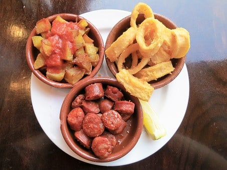 Tapas, Eat, Spanish, Chorizo, Squid, Calamari, Patatas