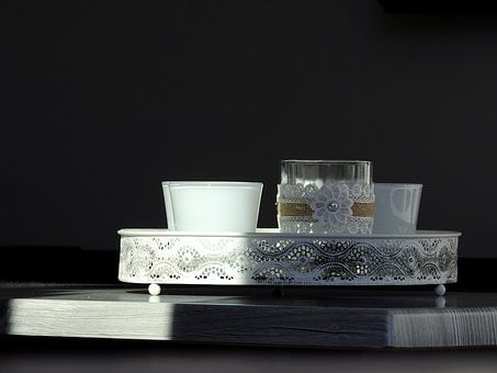 Glass, Candle, Tealight, Decoration, Candlestick