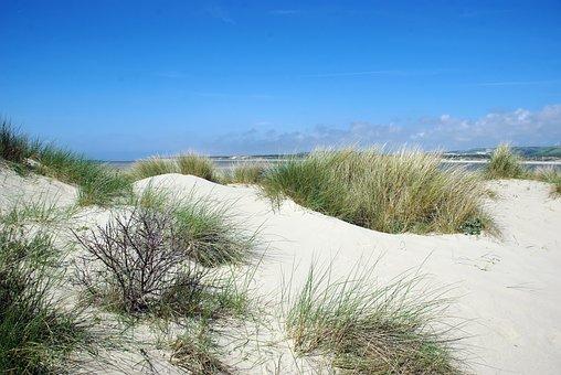 France, Pas De Calais, The Touquet, Estuary, Dunes