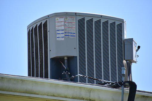 Air Conditioner, Roof, Unit, Cooling, Building, Fan