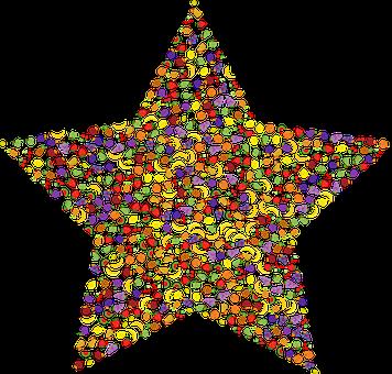 Fruit, Star, Shape, Abstract, Geometric, Apple, Banana