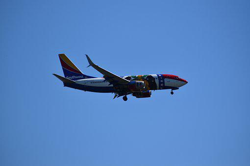Southwest, Airliner, Airplane, Boeing 737, Boeing 500