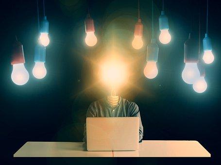 Startup, Start, Freelancer, Businessman, Light Bulb